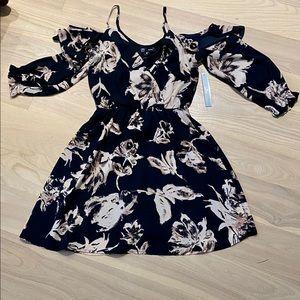 NWT Aqua Off-the-Shoulder Floral Dress